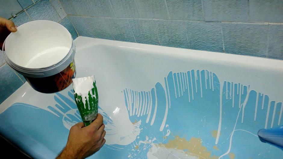 Как покрасить ванну акрилом
