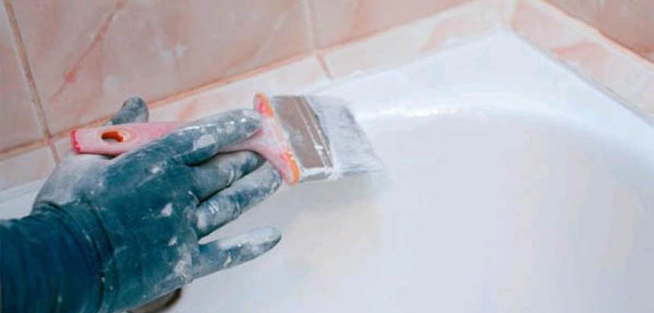 Покрытие ванны эмалью