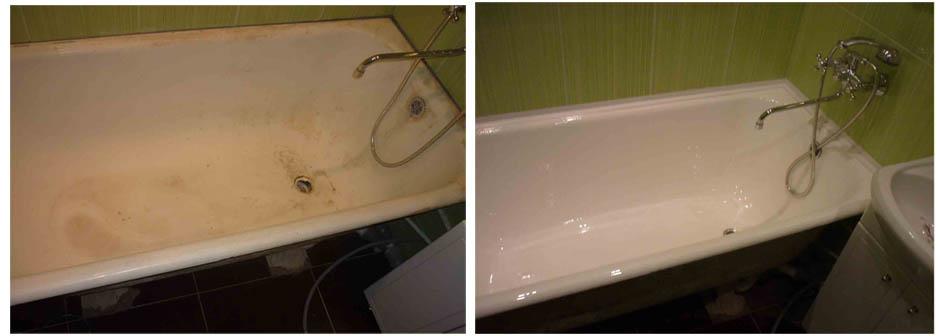 Покрытие старой ванны эмалью